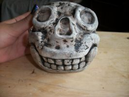 Skull Planter by QueenAliceOfAwesome
