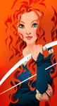 Princess Merida by pungang