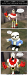 Every Undertale Comic Involving Paps 'n' Sans by Stitchlovergirl96