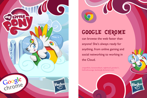 Google Chrome Pony Blind Bag Collector Card by BeckieRGB
