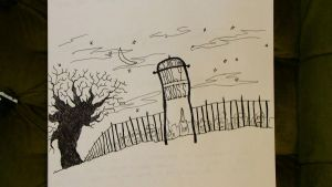 Sketchy: Cemetary Scene by AnonymousCharles