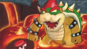 Battle with Bowser by 7colors0