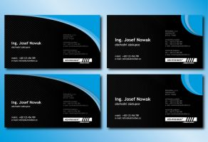 Black and Blue Business Card by Slaterius