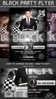 Black Party-Club Flyer Template by Hotpindesigns