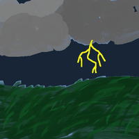 Grass + Stormclouds Practice .:TAKE 2:. by bluegumibear