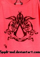 Hand Drawn Assassins Italian Symbol on a tank top by Spydi-mel