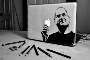 Steve Jobs by pencilplane