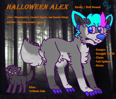 Halloween Alex Refrence Sheet by huskynugget