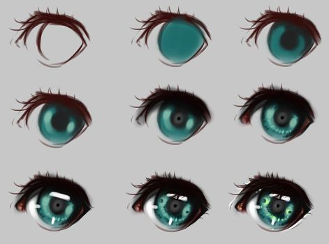 Eyes step by step by ryky