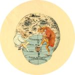 frogs in the moon by misspaperclip