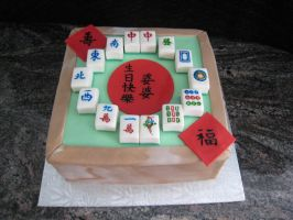 Mahjong Cake for Grandma by bloookkkerschtufin