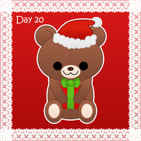 Christmas day 20: christmas teddy bear by to-much-a-thing