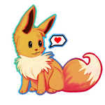 Eevee heart you by miflore