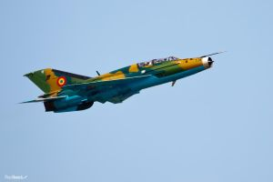 Mig 21 at Kecskemet Air Show by rodibest