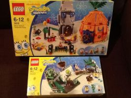 Lego Spongebob Town and Flying Dutchman Ship by extraphotos