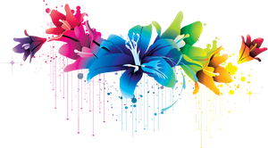 ++ Colorful Flower Vector Clipart PNG 02 by BrielleFantasy