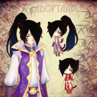 Chinese Black Tiger Man {Adoptable-closed} by LittleRueKitty