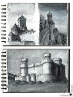 Architecture Sketches 01 by UnicatStudio
