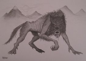 Werewolf sketch by NenadJones
