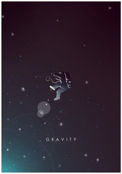 Gravity alternative minimal poster. by CW-Posters