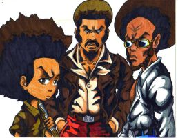 the afro headed warriors by trunks24