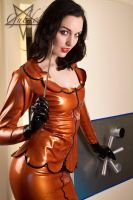 Bank staff in Latex 02 by GuldorPhotography