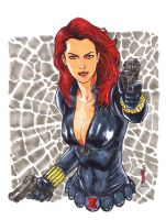 Black Widow Copic Marker by Thegerjoos