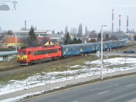 M41 2149 with passenger train in Gyor by morpheus880223