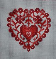 Heart Cross-stitch by myctchr