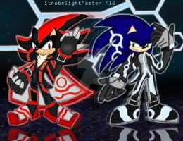 Sonic and Shadow: R3CONF1GUR3D by StrobelightMaster