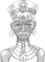 Scar-Faced Egyptian Queen by DaBrandonSphere
