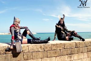 Thor And Loki on the sea by Moony-Cosplay