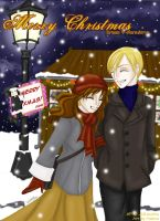 DHr Christmas 05 by Male-chan by Dramione-Club