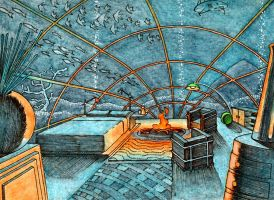 Undersea Hotel Room 1 by Frohickey