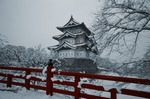 Hirosaki Castle selective color by Zeroibis