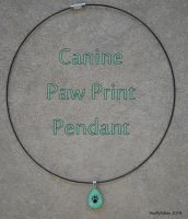 Canine Paw Print Pendant by wolfysilver