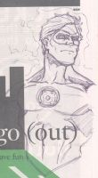 Green Lantern newspaper sketch by mikereisner