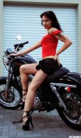 Bike Pin-up 1 by Dr-Benway