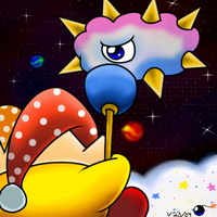 Kirby Vs. Kracko by G-Bomber