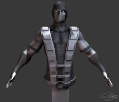 Mortal Kombat Scorpion WIP by FoxHound1984