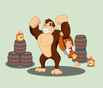 Cranky Kong and Donkey Kong Jr. by BBBHuey