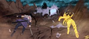 Naruto 632/Team 7 Again - So this is teamwork? by wizARTSS