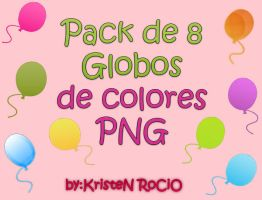 Pack de 8 Globos PNG by RoohEditions