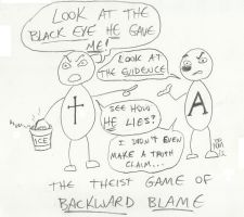 Theist Game of Backward Blame by LimeGreenSquid