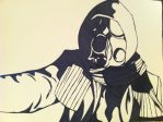 Gas Mask Man by Bisoux