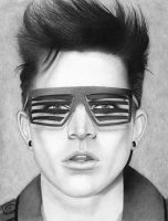 Adam Lambert Flaunt Drawing by santabillie