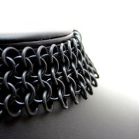 Black Rubber Goth Choker II by Utopia-Armoury