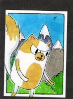 Cake in the Mountains sketch card by johnnyism
