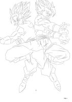 Vegetto X Gogeta by darkhawk5