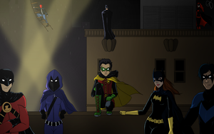 Bat Family Rooftop Reunion by OnTDre